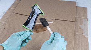 DIY Silicon Carbide Coating Grip Step 4