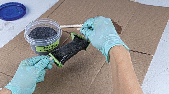 DIY Silicon Carbide Coating Grip Step 5