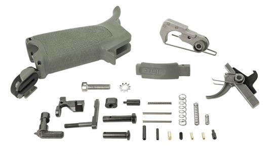 Bravo Company AR-15 Enhanced Lower Parts Kit foliage green
