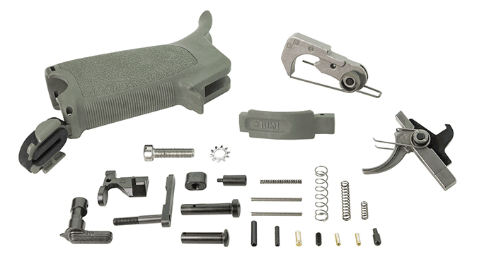 Bravo Company AR-15 Enhanced Lower Parts Kit foliage green