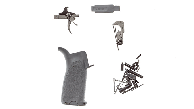 Bravo Company AR-15 Enhanced Lower Parts Kit wolf grey