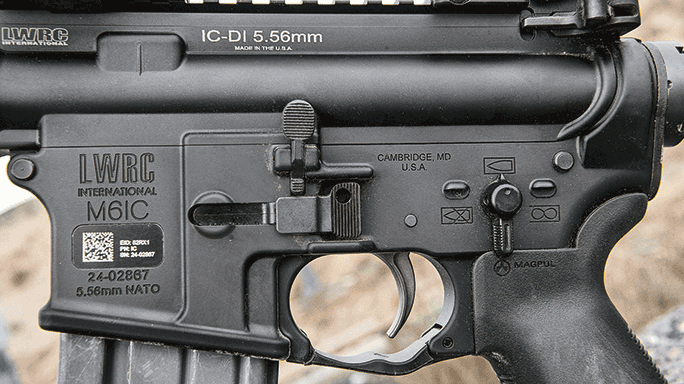 LWRCI IC-DI Rifle test controls