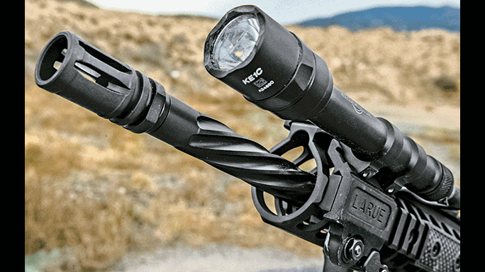 LWRCI IC-DI Rifle test flashlight