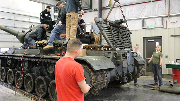 M47 Patton tank Black Knights 2016