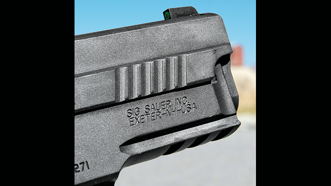 Sig Sauer Legion Series Pistol test slide