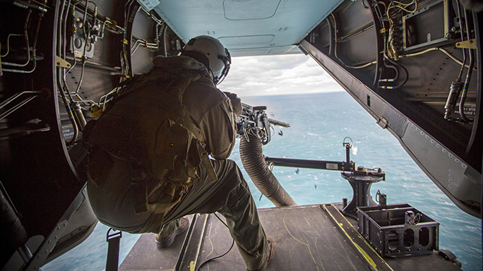 VMM-365 Marines M2 Browning .50-Caliber Machine Gun