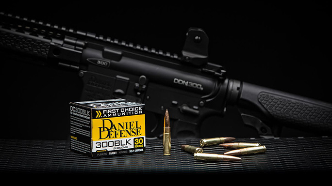 Daniel Defense First Choice 300 AAC Blackout ammo rifle
