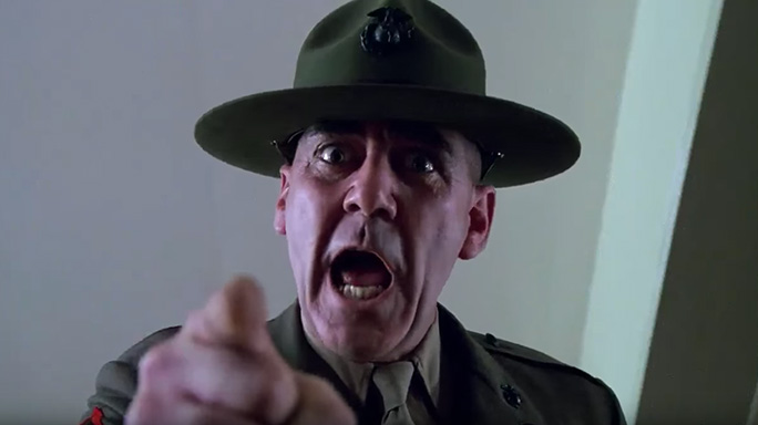 Full Metal Jacket R. Lee Ermey Gunnery Sergeant Hartman lead