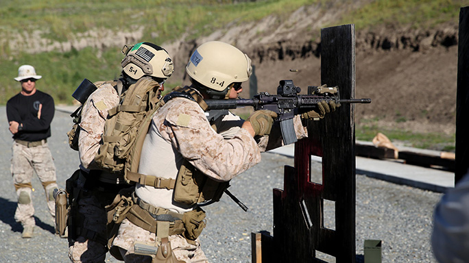 Marines Use M4, M45A1 For Close Quarters Tactical Training