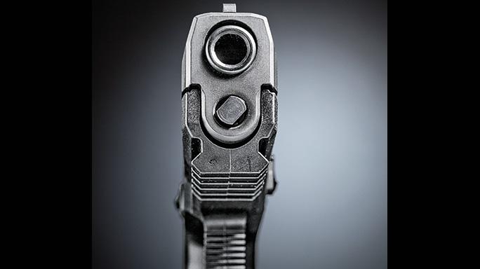 Sig Sauer P320 Shape Shifter Pistol muzzle