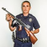 Cramerton Police Department tommy gun