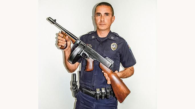 Cramerton Police Department tommy gun