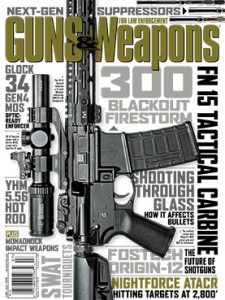 Guns & Weapons for Law Enforcement June/July 2016 cover