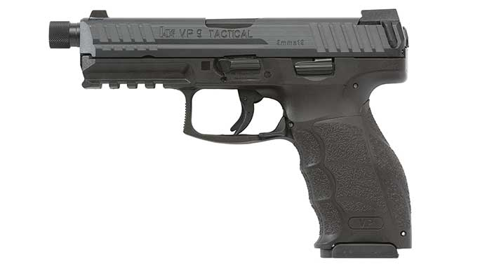 Tactical threaded barrel HK VP Pistol left