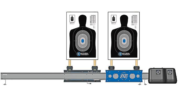 Gun Range Action Target Dual Running Man Pro