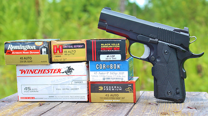 Dan Wesson ECO .45 ACP Elite Carry Officer Pistol ammo
