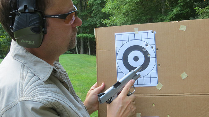 Ruger SR1911 .45 ACP Pistol Review target