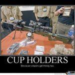 Gun Memes Cup Holder