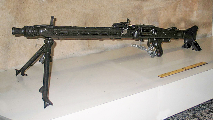 MG42 Machine Gun on display