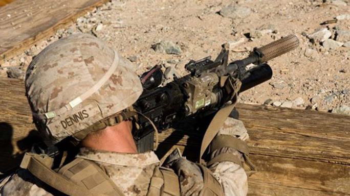 marine corps battalion using suppressors
