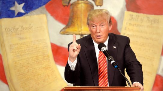 Donald Trump defends the Second Amendment