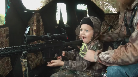 7-Year-Old Lilly Klapper reacts to shooting her first deer