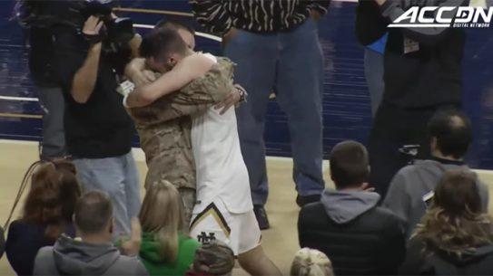 Notre Dame Basketball Player Matt Farrell Army surprise