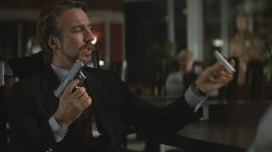 Hans Gruber removing the suppressor from his Heckler & Koch P7M13 in Die Hard