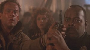 Sgt. Al Powell fires the Smith & Wesson Model 15 in Die Hard