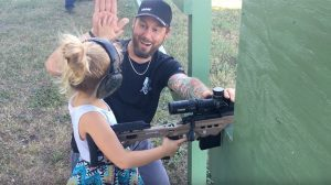 Buck Holly 4-Year-Old daughter gun range