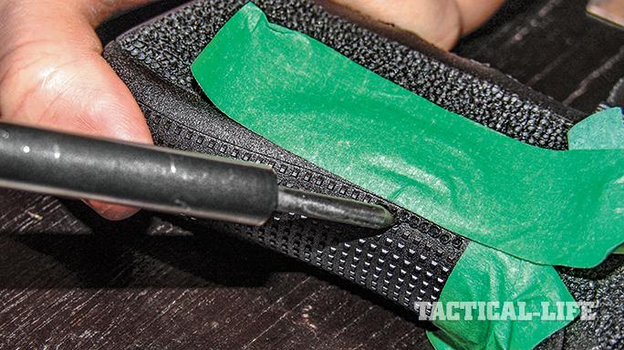 Stippling a handgun