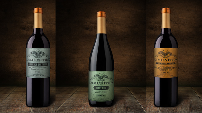 The Daylight Wine Company features an Ammunition line of wine
