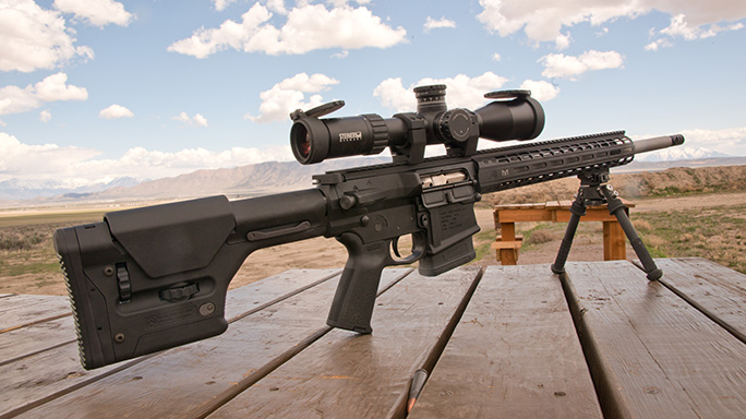 Aero Precision M5E1 rifle outdoor range