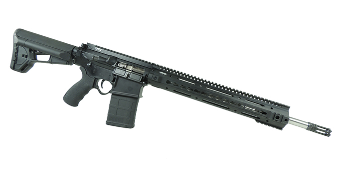 Black Dawn Lightweight 3-Gun rifle angled right