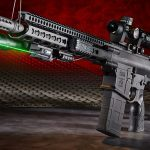Daniel Defense DD5V1 rifle with green laser