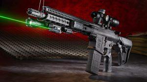 Daniel Defense DD5V1 rifle with green laser