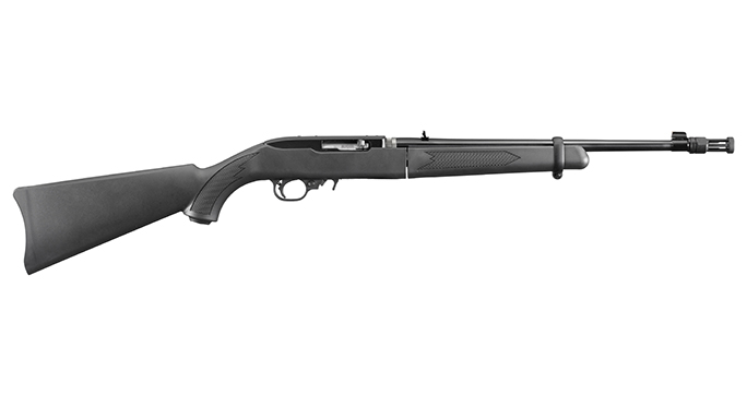 Ruger 10/22 Takedown rifle facing right