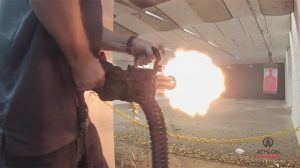 Empty Shell XM556 Microgun firing