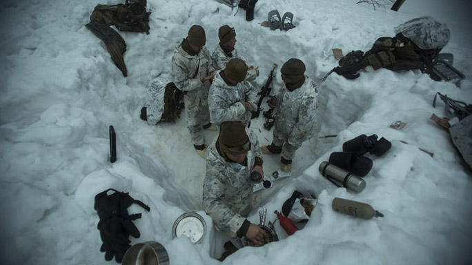 US Marines Cold Weather Training breakfast
