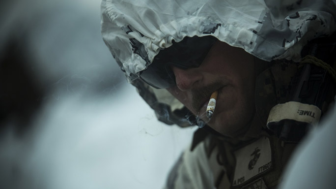 US Marines Cold Weather Training cig