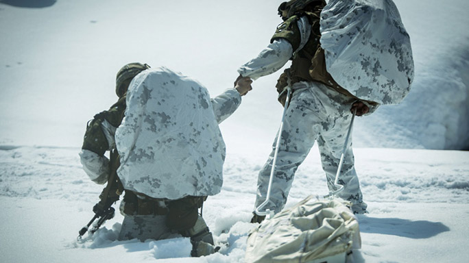 US Marines Cold Weather Training deep