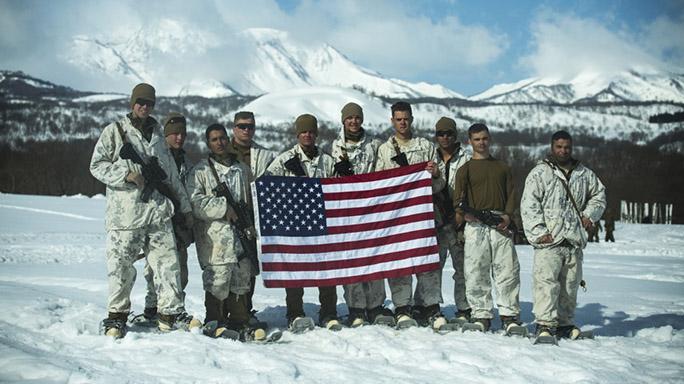 US Marines Cold Weather Training flag