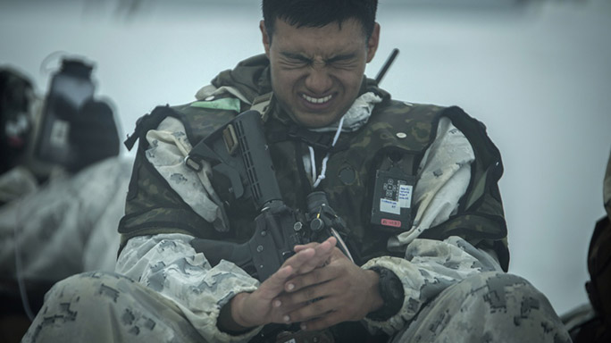 US Marines Cold Weather Training hands