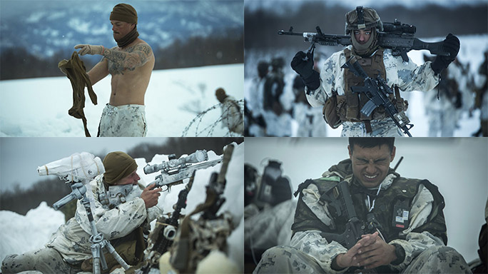 US Marines Cold Weather Training