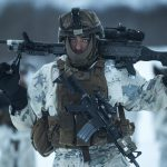 US Marines Cold Weather Training M240B