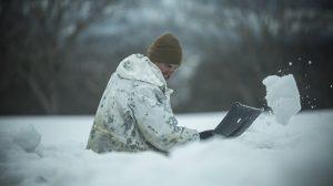 US Marines Cold Weather Training shovel
