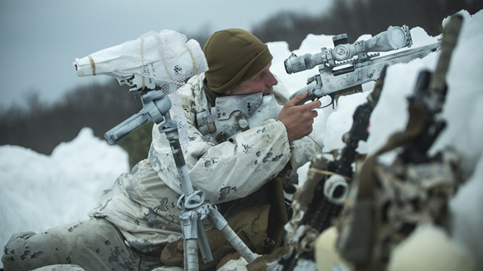 US Marines Cold Weather Training sniper