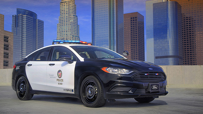 Police Responder Hybrid Sedan electric vehicle