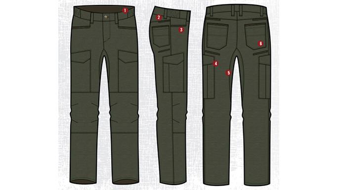 Vertx Mens Fusion Stretch Tactical Pants