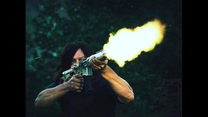 The Walking Dead Season 7 Finale Daryl Dixon rifle